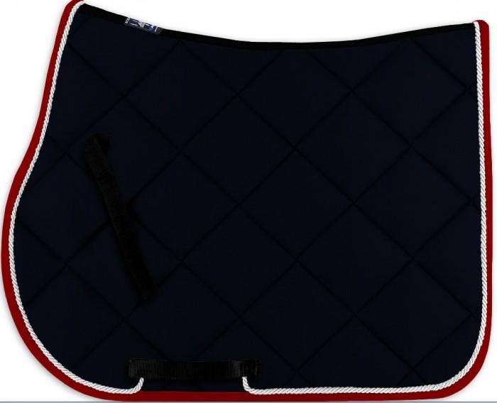 Tapis bleu galon rouge et pourquoi pas plus for Tapis coton noir et blanc