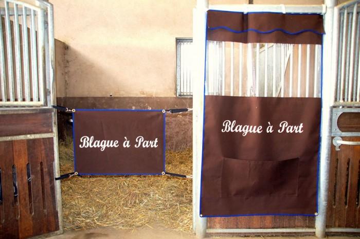 Tenture Et Porte De Box Personnalisable - Porte de box chevaux