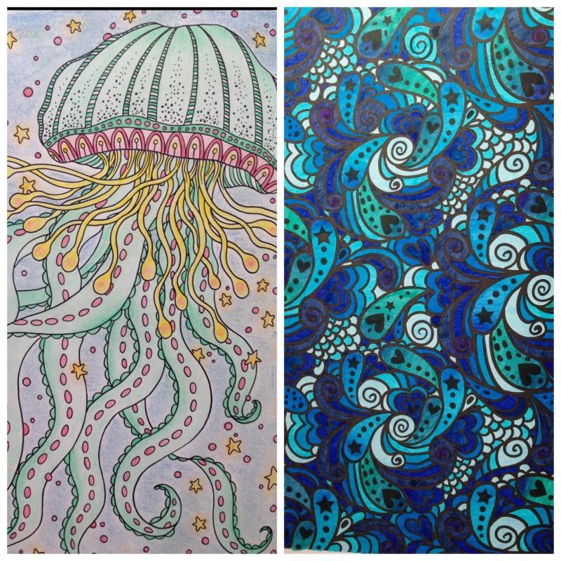 coloriage anti stress bleu