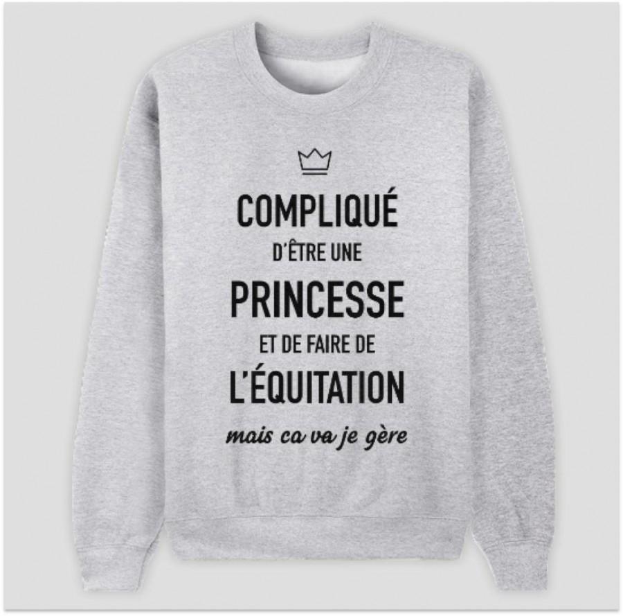 recherche sweat message princesse quitation