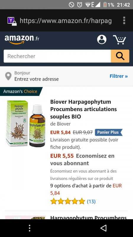 harpagophytum teinture mère cheval